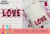 Valentine SVG | Love Heart Buffalo Plaid Design example image 1