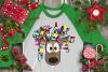 Christmas Lights Tangled Reindeer Watercolor example image 10