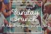 Sunday Brunch - A Hand-Written Script Font example image 1