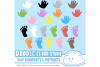 Colorful Baby FootPrints & Handprints Cliparts, Baby Hands Foot prints , Transparent / White Backgrounds, Instant Download, Commercial Use example image 1