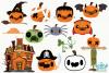 Costume Pumpkins Digital Clipart, Instant Download Vector example image 2