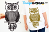 Owl paper cut design example image 1