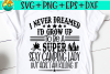 I Never Dreamed I'd Grow Up To Be A Camping Lady SVG PNG example image 1