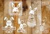 Easter / Rabbit paper cut Bundle SVG / DXF / EPS / PNG files example image 4