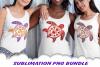 Valentine Mandala Turtle Glitter Sublimation PNG Bundle example image 5