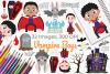 Vampire Boys Clipart, Instant Download Vector Art example image 1