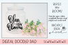 Hand Lettered Spring SVG Bless my Blooms | Silhouette Cricut example image 2