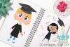 Graduation Day Clipart, Instant Download Vector Art example image 3