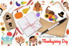 Thanksgiving Day Clipart, Instant Download Vector Art example image 4