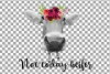 Not today Heifer printable floral burgundy decor, floral cow example image 5