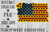 Sunflower American Flag PNG example image 1