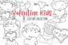 Valentine Kids Digital Stamps example image 1