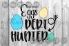 Eggs Pert Hunter, Easter, Spring, Cut File, SVG. example image 1