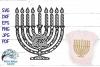 Menorah Zentangle SVG | Hanukkah Mandala SVG Cut File example image 1