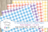 16 seamless Digital Papers - Pastel Gingham 1/2 inch - HC004 example image 2