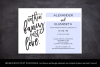 Elopement reception invitation, nothin fancy just love example image 5