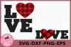 Love SVG, Heart SVG, Buffalo Plaid Svg, Valentines Hearts example image 1