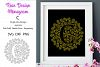 Monogram C Foil Quill Single Line Mandala example image 1