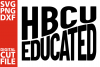 HBCU Educated svg, Black Queen svg, School svg, Graduation example image 1