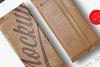 Chocolate Kraft Bar Mockup Top & Back Side View example image 6
