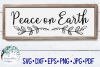 Peace on Earth| Christmas Sign | SVG Cut File example image 1