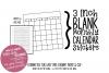 Printable Stickers Set - 6 mini blank calendar stickers example image 1