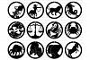 Zodiac Earrings SVG, Earrings Astrology SVG Files. example image 1