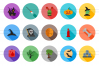 35 Halloween Flat Long Shadow Icons example image 2