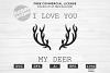 I Love You My Deer Design for T-Shirt, Hoodies, Mugs example image 1