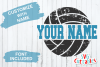 Distressed Split Volleyball | SVG Cut File example image 2