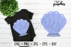 Mermaid Shell SVG Cut file PNG EPS DXF JPG - Crafters SVG's example image 1