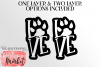 Love Pawprint SVG DXF EPS PNG example image 4