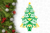 Unicorn Christmas Tree Svg Design example image 3