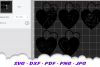Valentines Day Rose Hearts SVG DXF Cut Files Bundle example image 2