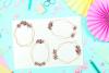 Geometric Gold Frames, Floral Crystal Frames, Wedding Frames example image 5