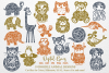 The Doodle Animal Bundle SVG / DXF / EPS files example image 1