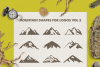 Mountain Shapes Bundle / Mountain Silhouette / Mountain SVG example image 4
