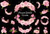 Pink Roses Tulips Flowers Sublimation Clipart Swags Bundle example image 2