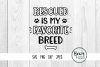 Rescued is my Favorite Breed Pet Cut Files example image 1