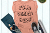 Women's Rolled Cuffs Tank Mockups - 7 example image 3