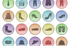 50 Clothes & Fashion Filled Low Poly Icons example image 2