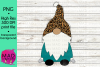 Santa Gnome - Leopard Print and Teal example image 1