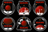 Mission to mars vector logo. example image 1