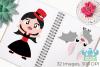 Vampire Girls Clipart, Instant Download Vector Art example image 3