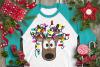 Christmas Lights Tangled Reindeer Watercolor example image 3