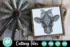 Zentangle Cow with Bandana - An Animal SVG Cut File example image 2