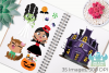 Halloween Trick Or Treaters Girls Clipart, Instant Download example image 3