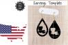 Earrings Template - Louisiana Teardrop Earrings Svg example image 1