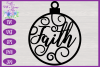 Christmas Word Ornaments SVG | Laser Cut Baubles SVG example image 15
