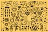 Cartoon Doodle Heart Clip Art Set example image 4
